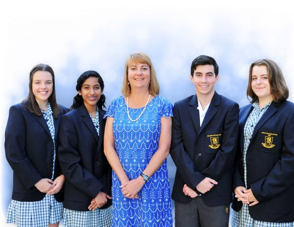 Principal Mrs Karen Wade with Student Leaders